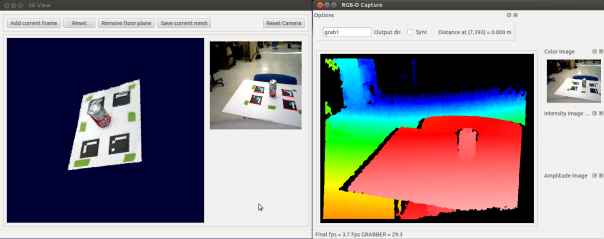 Creating 3D mesh models using Asus xtion with RGBDemo and Meshlab on