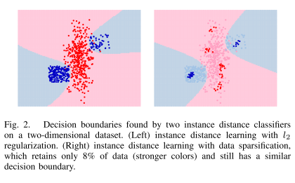 instance distance learning decision boundaries